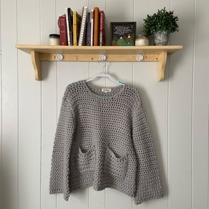 LISTICLE cable knit sweater